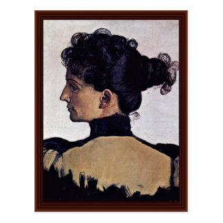 Portrait Of The Artist'S Wife Berthe Jacques Postcard