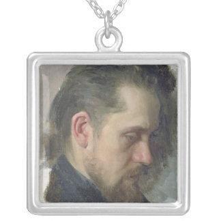 Portrait of the author Nikolay Pomyalovsky, 1860 Silver Plated Necklace