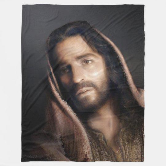 Portrait of the Christ, Fleece Blanket 60 x 80
