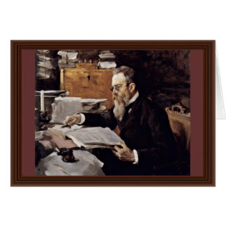 Portrait Of The Composer Nikolai Andreyevich Card