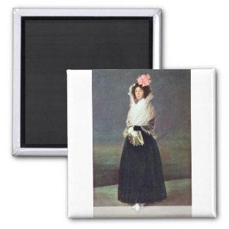 Portrait Of The Comtesse Del Carpio Square Magnet