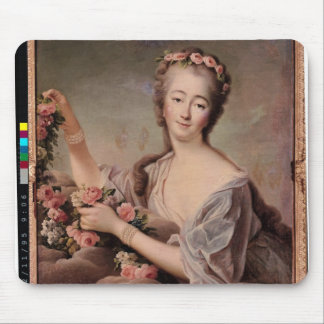 Portrait of the Countess du Barry  as Flora Mouse Pad
