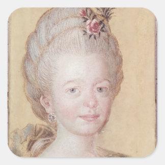 Portrait of the daughter of Carl Linnaeus Sticker