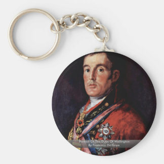 Portrait Of The Duke Of Wellington Basic Round Button Keychain