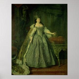 Portrait of the Empress Anna Ivanovna  1730 Poster