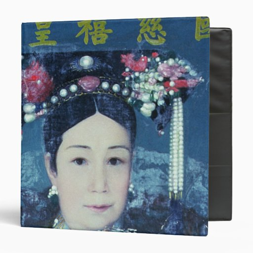 Portrait of the Empress Dowager Cixi 3 Ring Binder