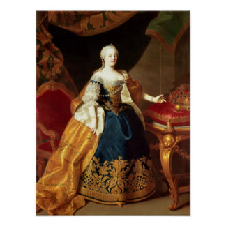 Portrait of the Empress Maria Theresa Poster