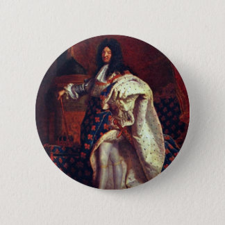 Portrait Of The French King Louis Xiv By Rigaud Hy 2 Inch Round Button