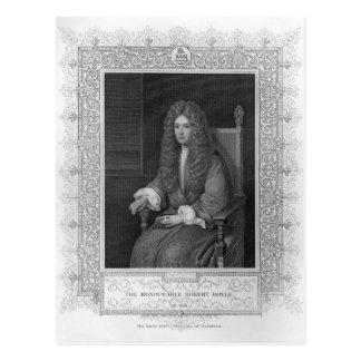 Portrait of The Honourable Robert Boyle Postcard