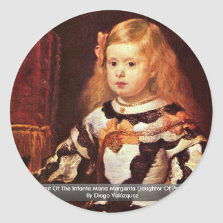 Portrait Of The Infanta Maria Margarita Round Sticker