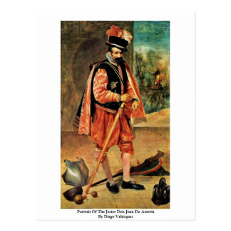 Portrait Of The Jester Don Juan De Austria Postcard