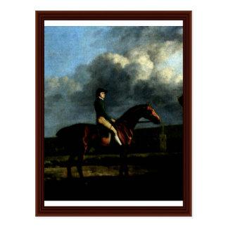 Portrait Of The Jockeys John Larkin Detail Postcard