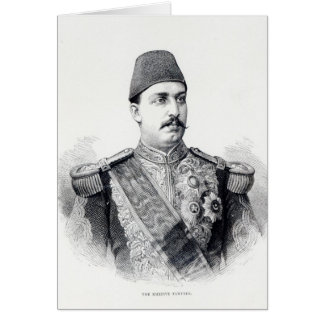 Portrait of The Khedive Tawfig Card