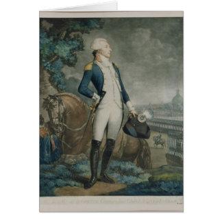 Portrait of the Marquis de La Fayette Card