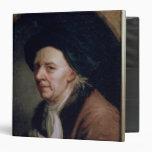 Portrait of the Mathematician Leonard Euler 3 Ring Binders