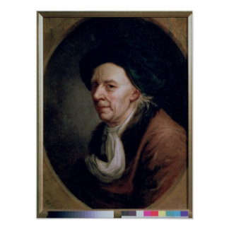 Portrait of the Mathematician Leonard Euler Poster