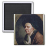 Portrait of the Mathematician Leonard Euler Square Magnet