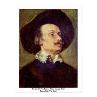 Portrait Of The Painter Pieter Snayers Battle Postcard