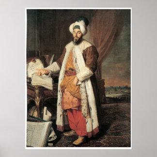 Portrait of the Pasha Mehmed Said, Poster