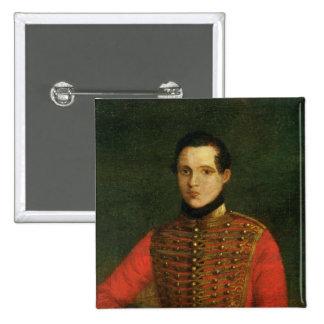 Portrait of the Poet Michail Lermontov 2 Inch Square Button