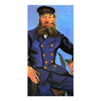 Portrait of the Postman Joseph Roulin by van Gogh Photo Card