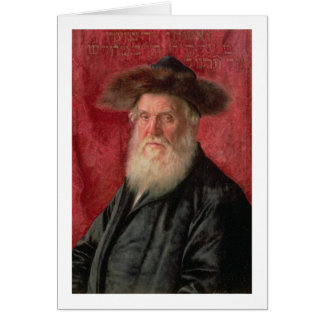 Portrait of the Rabbi of Nadvorno, c.1910 (oil on Card