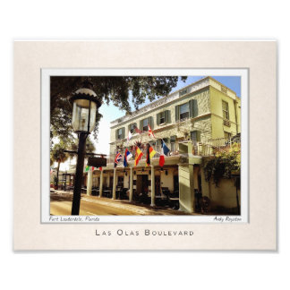 Portrait of the Riverside Hotel Photo Print