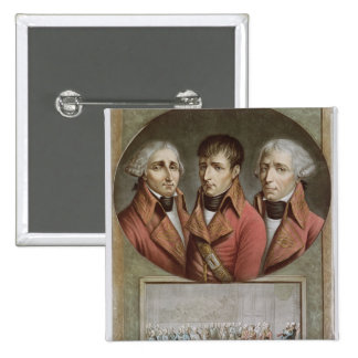 Portrait of the Three Consuls of the Republic 2 Inch Square Button
