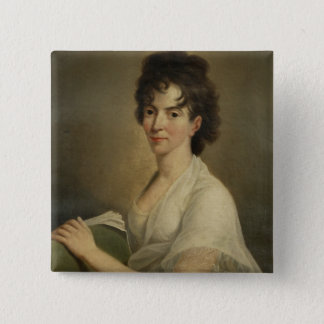 Portrait of the widowed Constanze Mozart, 1802 2 Inch Square Button