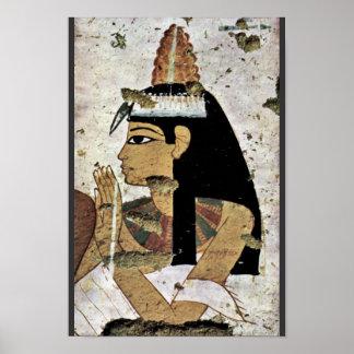 Portrait Of The Wife By Maler Der Grabkammer Der B Poster