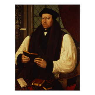 Portrait of Thomas Cranmer  1546 Poster