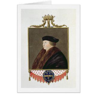 Portrait of Thomas Cromwell (c.1485-1540) Ist Earl Greeting Card