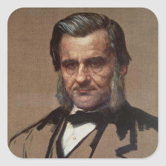 Portrait of Thomas Henry Huxley Square Sticker