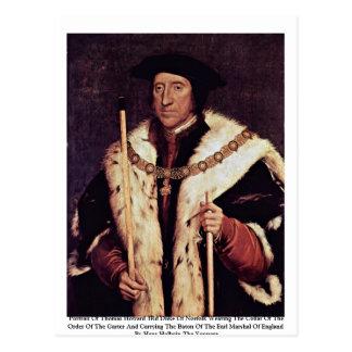 Portrait Of Thomas Howard 3Rd Duke Of Norfolk Postcard