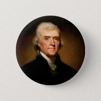 Portrait of Thomas Jefferson by Rembrandt Peale 2 Inch Round Button