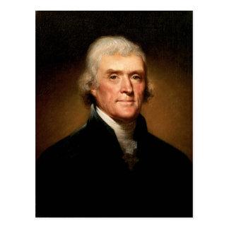 Portrait of Thomas Jefferson by Rembrandt Peale Postcards