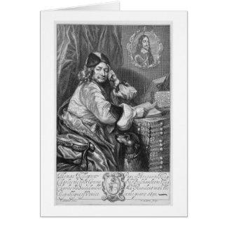Portrait of Thomas Killigrew (1612-83) Restoration Card