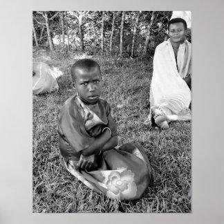 Portrait of thoughtful young Ugandan girl Poster