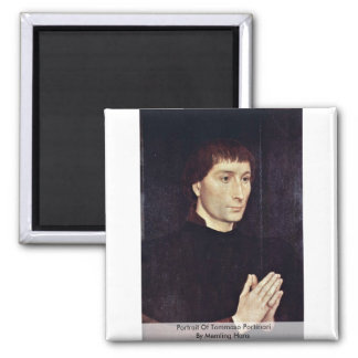 Portrait Of Tommaso Portinari By Memling Hans Magnet