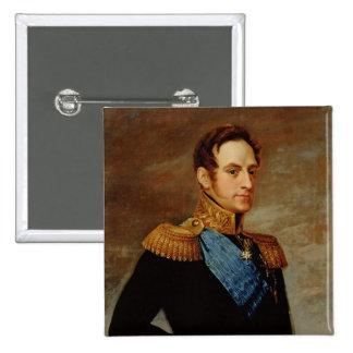 Portrait of Tsar Nicholas I  1826 2 Inch Square Button