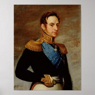 Portrait of Tsar Nicholas I  1826 Poster