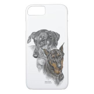 Portrait of Two Dobermans for keys iPhone 7 Case