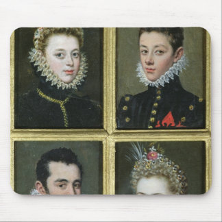 Portrait of Two Men and Two Women Mouse Pad