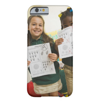Portrait of two preschool girls with A plus and Barely There iPhone 6 Case