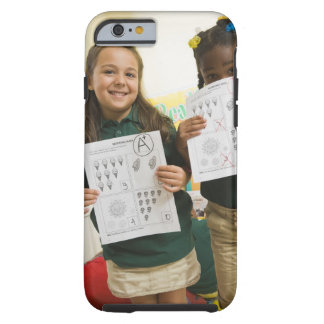 Portrait of two preschool girls with A plus and Tough iPhone 6 Case