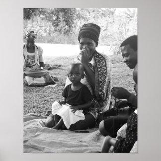 Portrait of Ugandan mother an child Poster