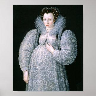 Portrait of Unknown Lady c.1595 Fine Art Poster