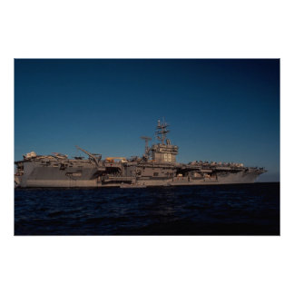 """Portrait of """"USS Nimitz"""", nuclear powered carrier, Poster"""
