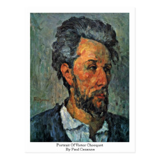Portrait Of Victor Chocquet By Paul Cezanne Postcard