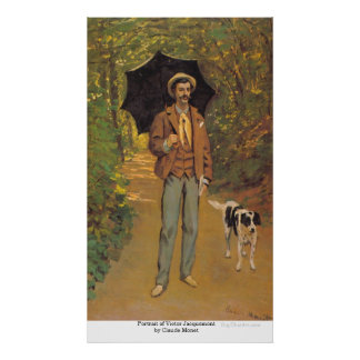 Portrait of Victor Jacquemont by Claude Monet Poster
